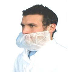 Extra Large Med-X White Disposable Beard Covers - Pack of 200