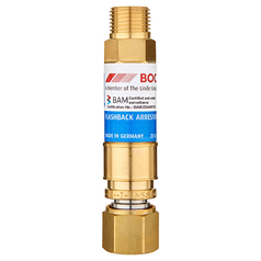 BOC Standard Flow Torch End QRC Oxygen Flashback Arrestor