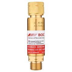 BOC Standard Flow Regulator End Fuel Gas Flashback Arrestor