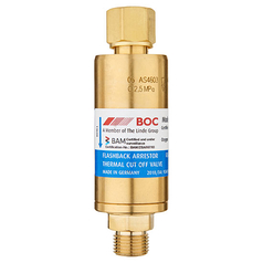 BOC High Flow Regulator End Oxygen Flashback Arrestor