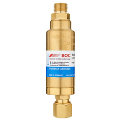 BOC High Flow Torch End Oxygen Flashback Arrestor