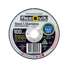 Flexovit A46T-BF41 Ultra Thin Mega Inox Premium Cut-Off Wheel