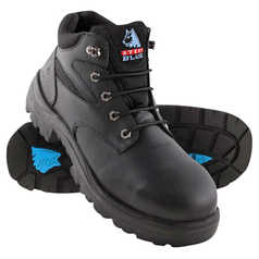 Steel Blue Whyalla Lace-Up Safety Boot with Steel Toecap and TPU Outsole