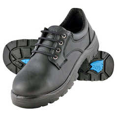 Steel Blue Eucla Derby Lace-Up Safety Shoe with Steel Toecap and TPU Outsole