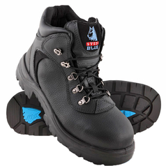Steel Blue Riverina Lace-Up Safety Boot with Steel Toecap and TPU Outsole