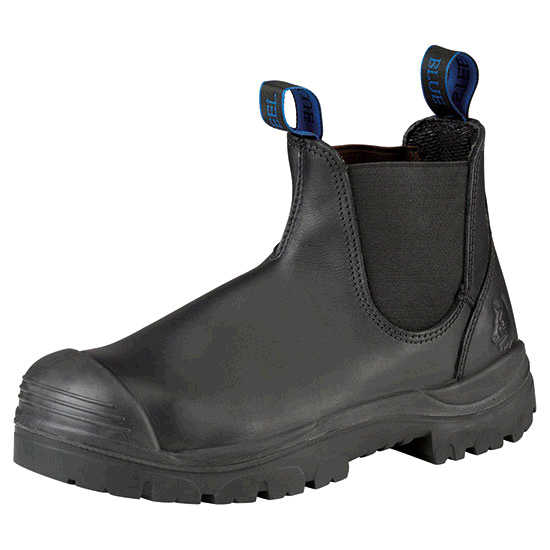 b058b73babb Steel Blue Hobart Elastic-Sided Safety Boot with Steel Toecap