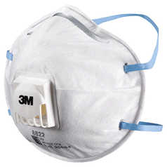 3M 8822 Cupped Disposable Respirator with Valve