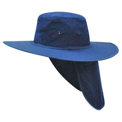 Canvas Hat With Flap