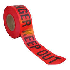 Polyprint Danger Keep Out Barrier Tape