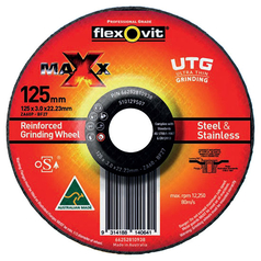Flexovit Maxx Depressed Centre Ultra Thin Grinding Disc