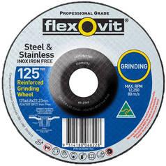 Flexovit Iron Free Stainless Steel Depressed Centre Grinding Wheel