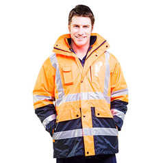 ESCAPE Hi-Vis Four Seasons Jacket with Reflective Tape