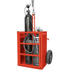 BOC Crane Liftable Oxy/Acetylene Gas Cylinder Trolley
