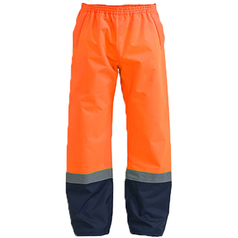 Bisley Two Tone Hi Vis Shell Rain Pant with Reflective Tape
