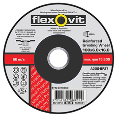 Flexovit A24/30T Metal Depressed Centre Cut-Off Wheel