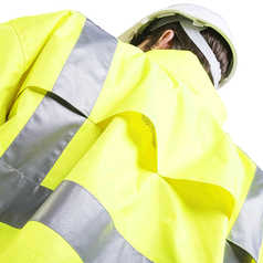ESCAPE Hi-Vis Isa Waterproof Jacket with Reflective Tape