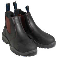 ESCAPE E9305 Pull-On Elastic-Sided Safety Boot with Steel Toecap and Rubber Outsole