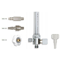 AMVEX Oxygen Flowmeter - 0-15 lpm