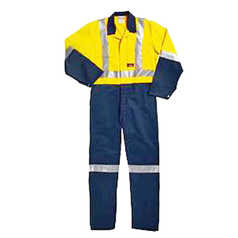 ESCAPE Hi-Vis Fire Retardant Cotton Drill Coveralls with Reflective Tape