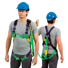 Miller M1020064 Fall Arrest Safety Harness with Lanyard