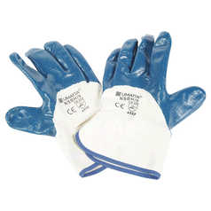 UMATTA Heavy Duty Nitrile Palm Coated General Purpose Glove with Open Back
