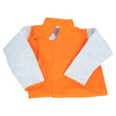 WELD GUARD Hi-Vis Welder's Jacket with Leather Sleeves