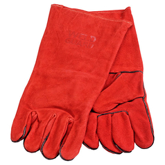 WELD GUARD Red Leather Welding Gauntlet
